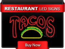 Restaurant LED Signs